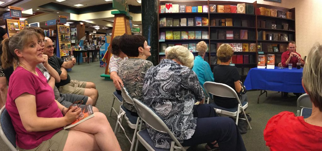 Readers and fans at Barnes & Noble